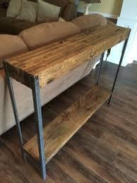 narrow sofa table. Rustic Metal Leg Sofa Table Narrow R