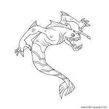 Coloring Aliens Coloring Pages Alien Monsters Vs Force Monster