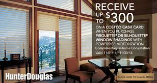 costco window treatments. Receive Up To $300 On A Costco Cash Card When You Purchase Hunter Douglas Pirouette® Window Treatments