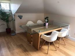 solid oak glass dining table reasonable offers welcome
