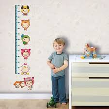 Baby Height Wall Chart Us 1 99 50 Off 180cm Carton Animal Lovely Children Baby Height Growth Chart Measure Wall Stickers For Nursery Decals Home Decoration In Wall