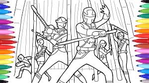 Power Ranger Coloring Pages For Kids Coloring Power Rangers With