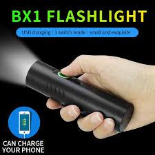 BX1 Flashlight <b>T6</b>/<b>L2 LED</b> USB Charging <b>Multi</b>-<b>function</b> Powerful ...
