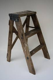above curly on offer from crown willow on a vintage step ladder complete with white paint spatters 24