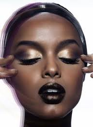 metallic eyes and rich dark lip color my favorite bination divariffic designs makeup for dark skin