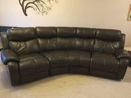 dfs daytona curved leather reclining sofa