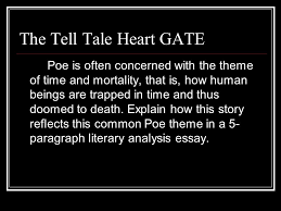 the tell tale heart author edgar allan poe goal students will the tell tale heart gate poe is often concerned the theme of time and mortality