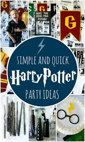 simple harry potter party ideas harry potter birthday party