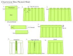 Pleated Skirt Pattern Interesting Chartreuse Pleated Skirt Sewing Tutorial Bunny Baubles