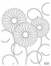 Easy Beautiful Coloring Pages With Free Printable Flower Coloring