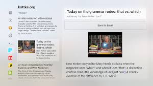 newsreel is a newsblur app for tv the newsblur blog check it out david berlin built newsreel a newsblur client for apple tv and from my first impression it rocks just take a look at these screenshots