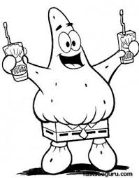 Printable Cartoon Spongebob Patrick Squarepants Coloring Pages