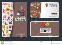 Credit Card Templates For Sale Autumn Season Corporate Identity Design Set Flyer And Business Card