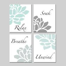 Art for bathroom Diy Wall This Bathroom Decor Wall Art Set Of 8x10 Prints Features The Words Relax Soak Breathe Unwind In Soothing Font Surrounded By Floral Petalsu2026 Pinterest This Bathroom Decor Wall Art Set Of 8x10 Prints Features The Words