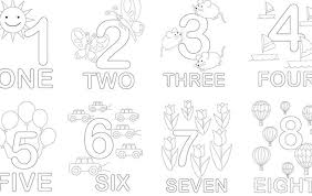 Coloring Pages For Kids To Print Out Numbers Coloring Pages Numbers