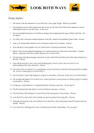 Essay Topics Mescaldyear12english
