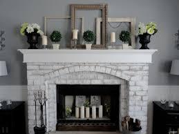 Gray Brick Fireplace And Grey Brick Fireplaces