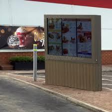 Drive Thru Vending Machine Stunning Digital Drive Thru Menu Board Enclosure Triple Screen Protection