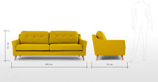 Blue And Yellow Sofa Mustard Yellow Settee