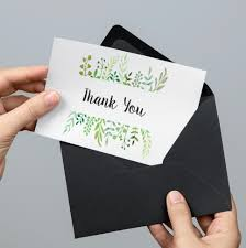 Printable thank you cards are always at hand | Image courtesy Etsy seller  DesignYourLove