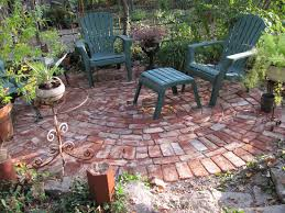 backyard patio ideas : patio ideas enchanting patterns for a brick patio  with a pair of plastic reclining lawn chairs from walmart garden products  and ...