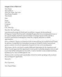 Ideas Collection Best Photos Of Letter Of Interest Internal Job