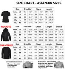 Us Hoodie Size Chart Narutod And Kuruma Pod All Over Print 3d Hoodies