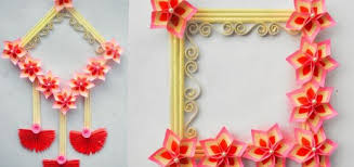 wall hanging craft ideas with paper flower