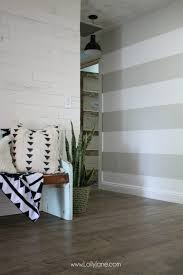 DIY Striped Accent Wall | I Love This Gray And White Striped Wall, Such An
