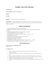 Car Sales Resume Template used car sales resumes Enderrealtyparkco 1