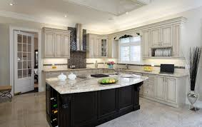 Black Kitchen Cabinets With White Countertops Kitchen With Black