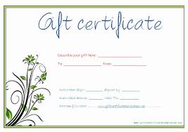 Custom Gift Certificate Templates Free Printable Gift Certificate Template Word Then 9 Best Of