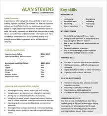 Sample Construction Resume Template 11 Free Documents In