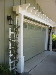 garage door arbor great way to increase curb appeal