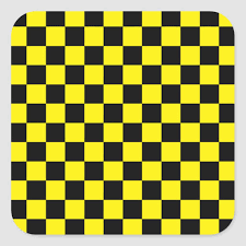 Checkered Black and Yellow Square ...