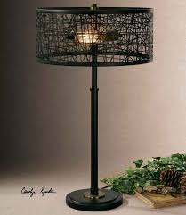 black drum shade uttermost lamp 1 jolie antique crystal semi flush mount chandelier