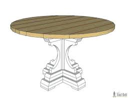 diy pedestal table free woodworking plans to build a chunky french farmhouse style round pedestal table