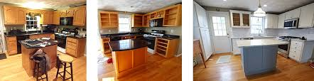 before and after cabinet refacing three phase process