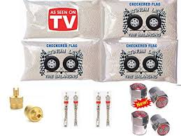 Car Tire Balancing Beads Chart 4 6oz Tire Balancing Beads Kit By Checkered Flag Tires With Free Valve Stem Cores Valve Stem Caps