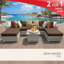 cocoa new haven 7 piece outdoor wicker patio furniture set 07a design furnishings