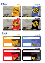 Gold Gym Membership Card G I F T S Cards Resume Card Templates