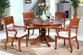 table and chairs with casters dinette chairs with casters gorgeous ideas for dining chairs with casters
