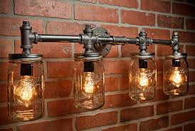 steampunk lighting. contemporary lighting industrial lighting  mason jar light steampunk bar  chandelier wall free shipping with m