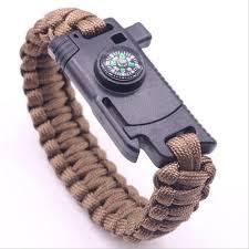 <b>Men Multi</b>-<b>function</b> Paracord Survival Bracelet <b>Outdoor</b> Camping ...