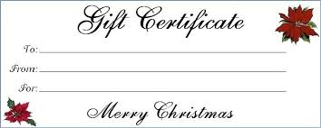 Christmas Gift Certificate Template Word Umbrello Co