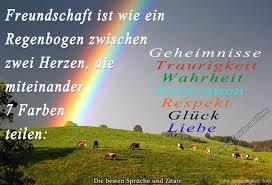 Freundschaft Ist Wie Ein Regenbogen Orginelles Lebensweisheiten