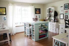 project organized home office armoire. Modern Craft Table-Aqua Project Organized Home Office Armoire