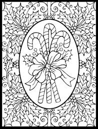 Small Picture Difficult Christmas Coloring Page With Pages In Printable For