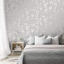milan metallic wallpaper grey silver