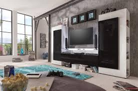 White High Gloss Living Room Furniture Uk Cooper Modern Tv Wall Set With Led Lights Wall Units Sena